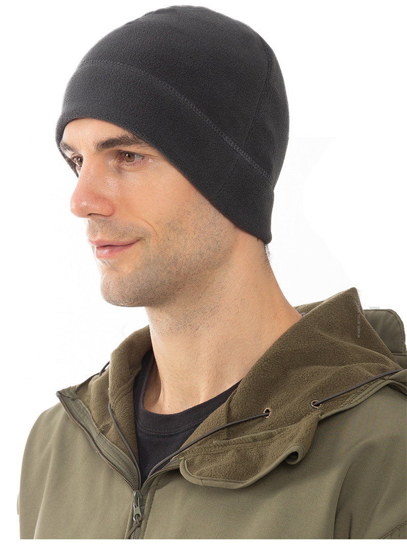 Bicycle Cycling Warm Knit Beanie Hats Cationic Polar Fleece Skullies Caps Bonnet