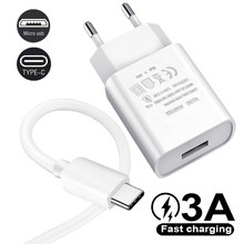 Original Fast Charge Micro USB Cable 5V 2A Travel Charger For Huawei P20 P30 P8 P9 P10 Lite Honor 8X 8C 8a Type C 3A USB Cable