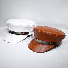 Snapback-Caps Captain-Hat Casquette Berets Female Black Winter Women Yacht