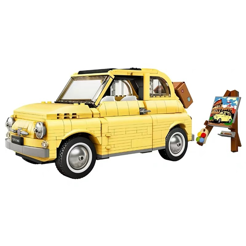 960pcs Building Blocks Compatible For Lepining 10271 FIATed 500 City Car Creator Series Model Children Kids Christmas Gift Toys