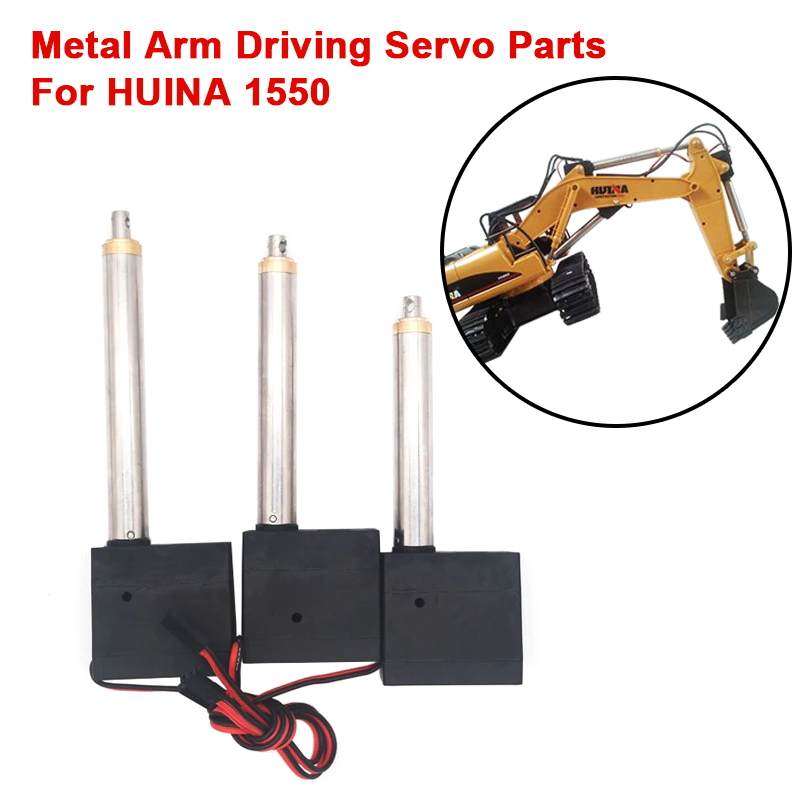 3 Pcs DIY Upgrade Metal Arm Driving Servo Parts For HUINA 1550 RC Crawler Car 15CH 2.4G 1:14 RC Metal Excavator Metal Arm Part