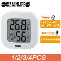 Termómetro Digital LCD, higrómetro, Mini medidor electrónico de temperatura, humedad, Sensor, estación meteorológica doméstica para habitación de bebé