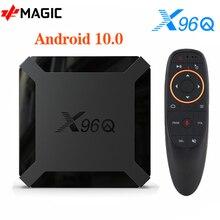 Смарт ТВ  бокс 2020 X96Q Android 10,0 Allwinner H313 четырехъядерный 2 Гб 16 Гб 4K Netflix Youtube телеприставка медиаплеер X96 Box TV