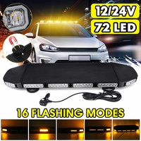 12V 24V LED Bar Car Strobe Light Bar Work Light Truck Beacon Warning Flash Lamp Roof Magnet Waterproof 16 Modes