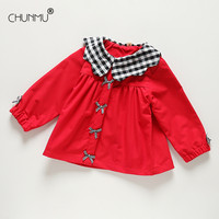 Baby Girls Coats and Jackets Autumn Spring Kids Collar Plaid Lapel Tops Outerwear Coat Toddler Boys Jacket Girls Clothes