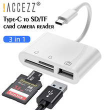 ¡! ACCEZZ-Adaptador de lector de tarjetas OTG, USB, tipo C, TF, SD, CF, para MacBook Air Pro, Samsung, cámara U, disco de memoria Flash, lector de tarjetas