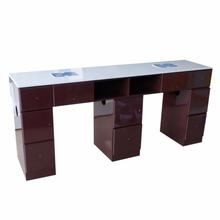 Sprzedaż w niskich cenach można dostosować Salon Furnitur z litego drewna farba marmurowy stół do malowania paznokci tanie tanio CN (pochodzenie) wood Meble do salonu Stół paznokci XY-C0012 Meble komercyjne custom-made