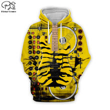 Men Hip Pop Electric Guitar 3D Print DJ singer Hoodies Sweatshirt unisex pullover Harajuku zipper coat women Leopard tshirt vest