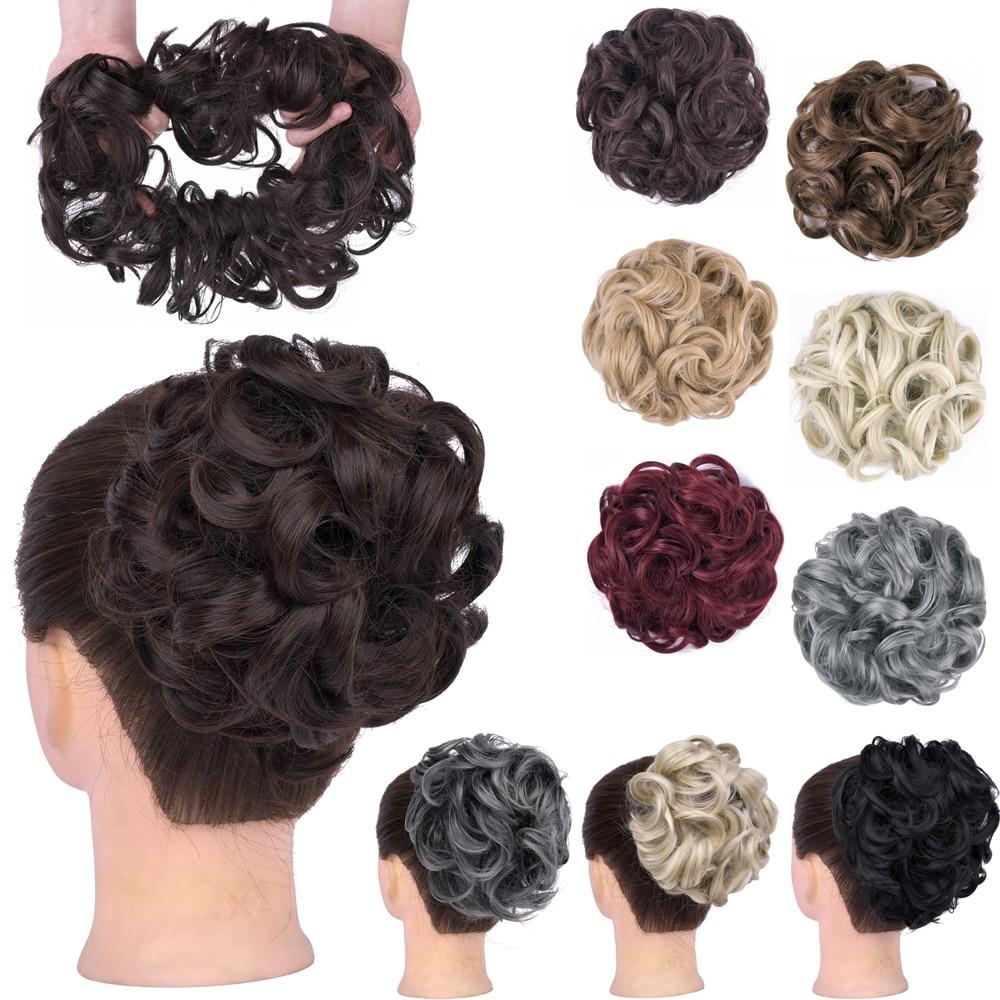 Шиньон GIRLSHOW женский с кудрявыми волосами, пушистый эластичный пучок, накладной хвост, аксессуар для волос