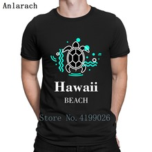 Hawaii playa tortuga turquesa blanco Camiseta cuello redondo Delgado primavera otoño Vintage manga corta gráfico cómodo crear camisa