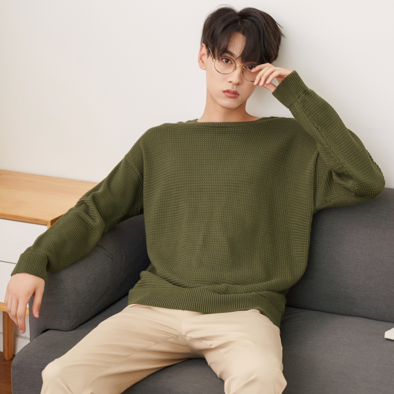 Metersbonwe Brand Knitted Sweater Men  Spring Autumn Fashion Long Sleeve Knitted Men Cotton Sweater High Quality Clothes 2