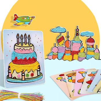 DIY Rainbow rope przyklejony papier malarstwo nauka zabawki dla dzieci zabawki materiał pakiet dzieci zabawki dziewczyna rzemiosło dzieci rzemiosło tanie i dobre opinie BLUEBEE 2 ~ 4 Lat 5 ~ 7 Lat 8 ~ 13 Lat 14 Lat i up Dorośli Zwierzęta i Natura Transport Muzyka 0170 Chiny certyfikat (3C)