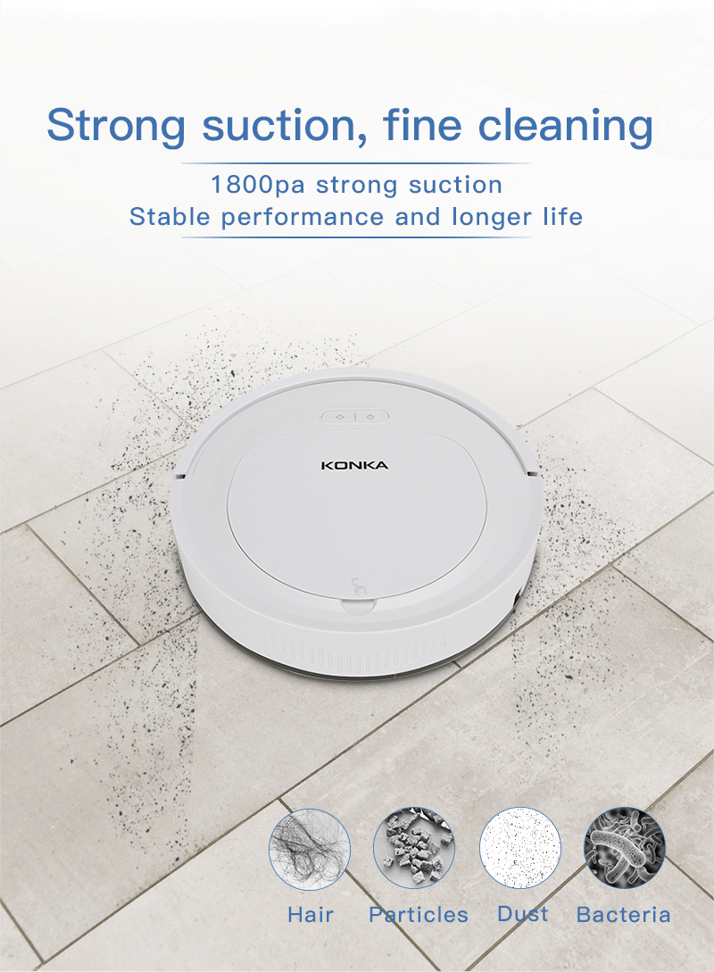 IKONKA V88 Automatically Chargeable Robot Vacuum Cleaner For Hard Floors and Carpet 10