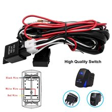 12V 40A Car Fog Light Wiring Harness ON OFF Switch LED Work Light Switch for Off-road Spotlights Switch Relay Kit cheap Tirol CN(Origin)