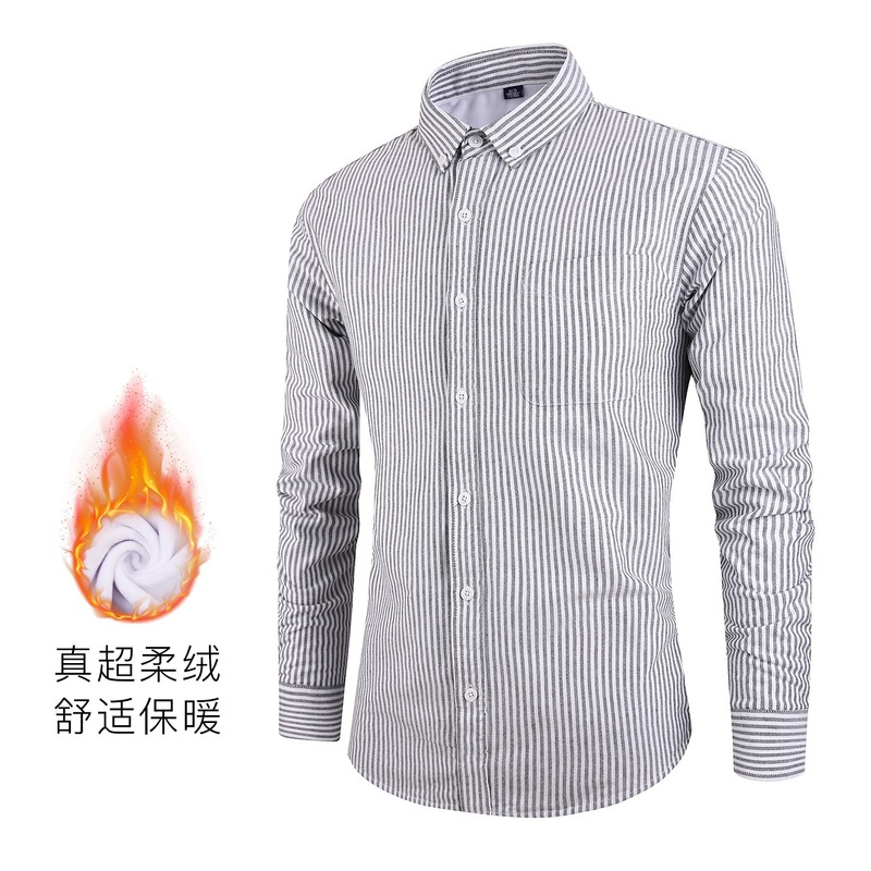 Хит продаж 2019, оксфордская Вельветовая теплая рубашка, новые простые мужские рубашки с длинным рукавом, хлопковая рубашка, мужская одежда