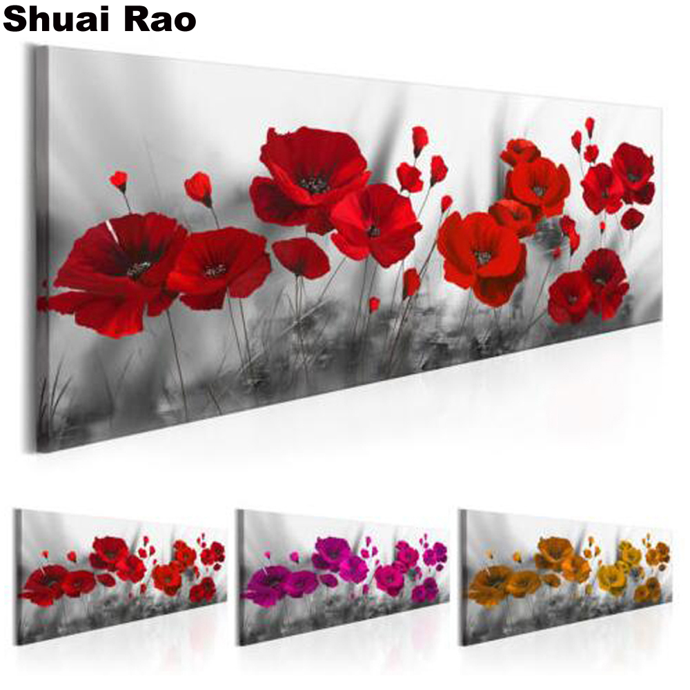 Big Size Full Drill DIY 5D Diamond Flower Painting Embroidery Cross Stitch Art
