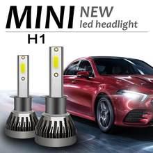 1 x h1 mini led kit de conversão farol cob lâmpada 90w 12000lm branco alta potência 6000k luz nevoeiro acessórios do carro txtb1