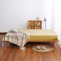 30 الذهب اللون أغطية السرير ستوكات 1 قطعة المجهزة ورقة سرير مفرد مع مرونة المنزل طقم ملاءة السرير غطاء مرتبة