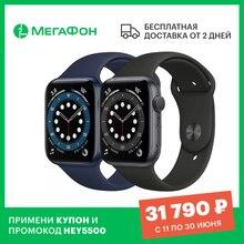 Умные часы Apple Watch Series 6, 44 мм [Ростест, доставка от 2 дней, новые, GPS, официальная гарантия] S6