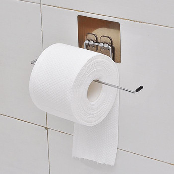 1/2pcs Bathroom Toilet Roll Paper Holder Stainless Steel Towel Rack Wall Mount Tissue Holder Bathroom Suction Hanger Hook kitchen roll paper self adhesive wall mount toilet paper holder stainless steel bathroom tissue towel accessories rack holders