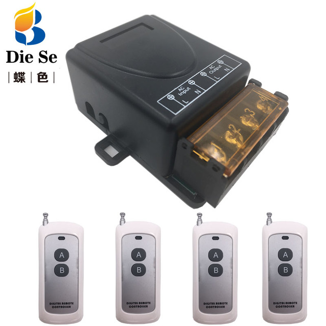 DieSe 30Aสูง 433Mhz AC220V1CHรีเลย์ตัวรับสัญญาณไร้สายเครื่องส่งสัญญาณกว่า 500 เมตรใช้สำหรับโรงงานปั๊มDIY