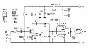 Image 3 - LEORY 6E2 أنبوب مكبر للصوت مجلس الصوت VU مستوى الطاقة لوحة للقيادة مؤشر حجم الصفراء Preamp فراغ لهجة إشارة لتقوم بها بنفسك عدة