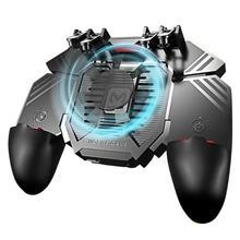 AK77 ستة أصابع PUBG موبايل المقود أذرع التحكم في ألعاب الفيديو لوحة ألعاب الزناد اطلاق النار غمبد USB شحن المقود ل PUBG