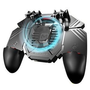 Image 1 - AK77 шесть пальцев PUBG мобильный джойстик игровой контроллер игровой коврик триггер стрельба геймпад USB зарядка Джойстики для PUBG