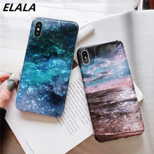 ELALA Glitter Marble Phone Case For iPhone XR Starry sky Dream Wave Color Cover 6S 7 8Plus X Xr Xs Max Capa