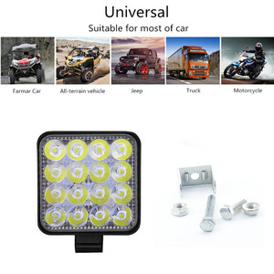 Image 3 - 4 pces carro conduziu a barra worklight 48w 12v offroad trabalho luz de nevoeiro lâmpada 16 lâmpada led trator farol lâmpadas holofotes para caminhão atv 4 i