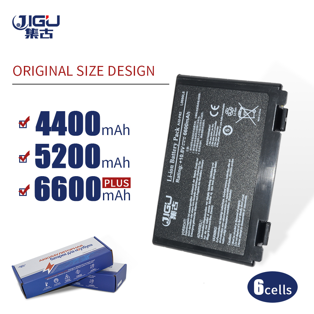 JIGU K50in  6 Cell Battery Pack For Asus K40 / F82 / A32 / F52 / K50 / K60 L0690L6 A32-F82 K40in K40af K50ij