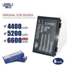 JIGU K50in 6 แบตเตอรี่ Pack สำหรับ Asus K40/F82/A32/F52/K50/K60 L0690L6 a32 F82 K40in K40af K50ij