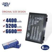 지그 K50in 6 셀 배터리 팩 Asus K40/F82/A32/F52/K50/K60 L0690L6 A32 F82 K40in K40af K50ij