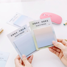 Creative Elegant Gradient Message Notes Removable Self- stick Notes memo pad Hipster Sticky Notes Memorandum Office Learning jivago 7 notes