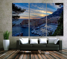 Modern Colorful Photo Picture Monte Carlo Lake Harbour Room Decor Cities Canvas Art Painting Living Bedroom