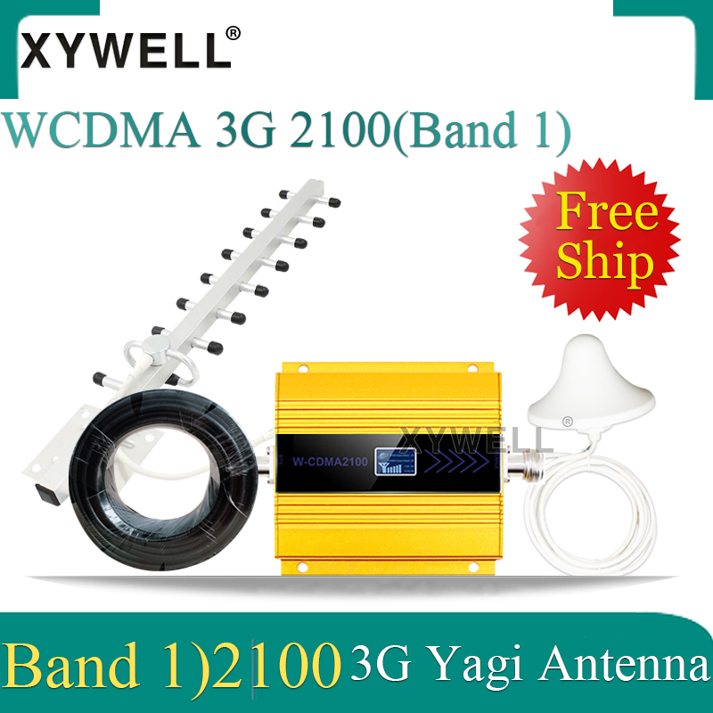 3G 2100MHz Repeater Gsm Mobile Signal Booster LTE (Band1) 2100MHz 3G Cellullar Amplifier 4g Signal Booster Cellphone Booster