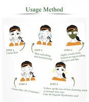 40g Dr.Sugarm Green Tea Blackhead Mask Remover Acne Deep Cleansing Treatment Pore Strip Facial Moisturzing Face Cream Peel Mask 6