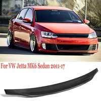 Full Real Carbon Fiber Trunk Spoiler Wing with UV Coating Lip For VW For Volkswagen Jetta MK6 Sedan 2011 2017 Type A