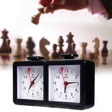 Quarz relógio de xadrez digital contagem para baixo temporizador esportes relógio de xadrez eletrônico competição jogo xadrez relógio pai-filho