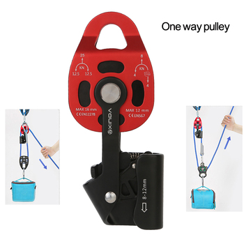 High quality Aluminum alloy with ratchet wheel One-way pulley heavy objects lifting tool Pulley Blocks device ascenders