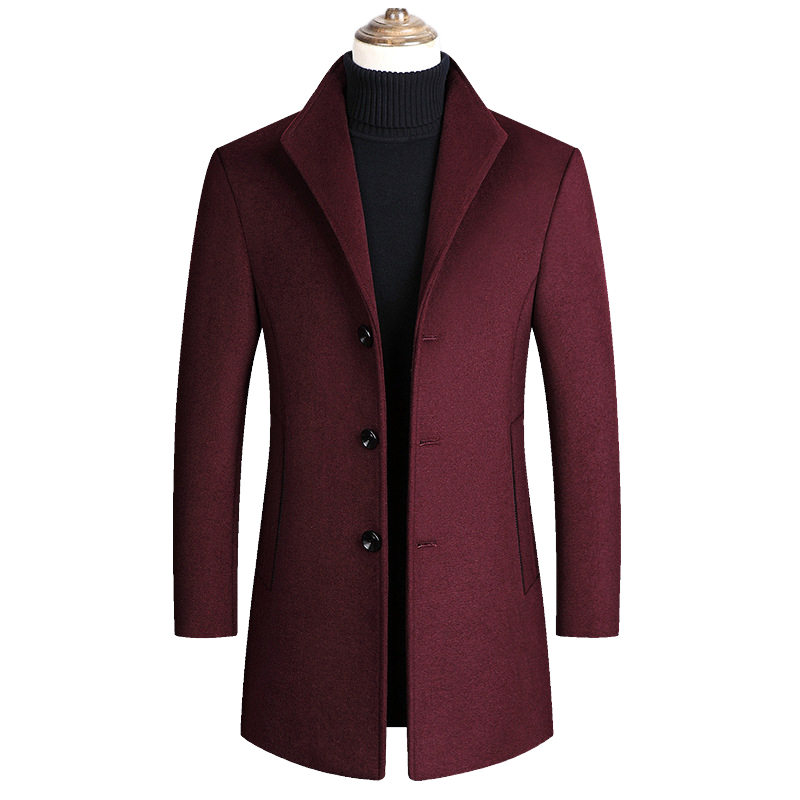 Mountainskin Men Wool Blends Coats Autumn Winter New Solid Color High Quality Men's Wool Jacket Luxurious Brand Clothing SA837 5
