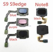1 pçs casa voltar botão de menu chave impressão digital sensor cabo flexível para samsung galaxy s9 s9edge mais g960f g965f nota 8 toque reparação