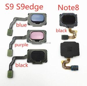Image 1 - 1 pçs casa voltar botão de menu chave impressão digital sensor cabo flexível para samsung galaxy s9 s9edge mais g960f g965f nota 8 toque reparação
