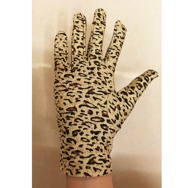 Women Leopard Print Gloves Fashion Elastic Leopard Waist Manner Gloves Girls Stage Performance Gloves Ceremonial Glove Mittens
