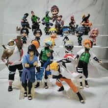 7 CM 6 PCS Naruto Action Figure Toys 12 Styles Q style Zabuza Haku Kakashi Sasuke Naruto Sakura PVC Model Doll Collection Toy