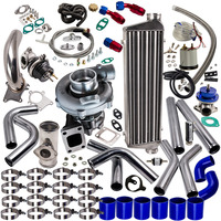 T3 t4 t04e universal turbo carregador kit fase iii + wastegate intercooler tubos kit para nissan patrol y60 y61 supercharger