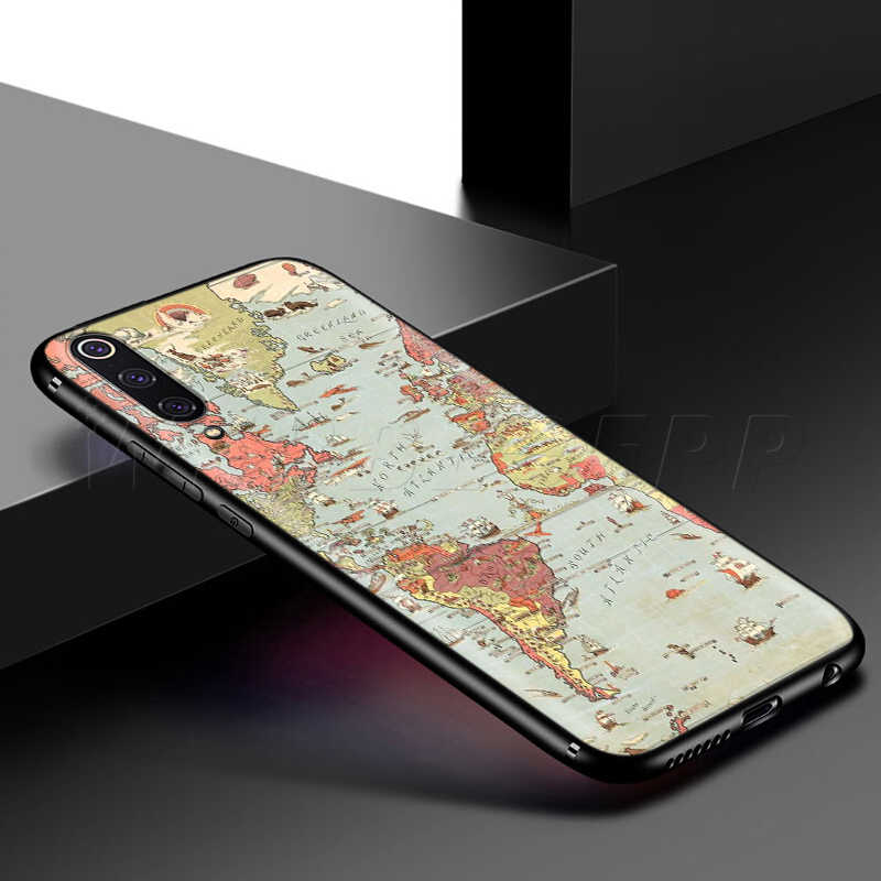 Webbedepp pembe dünya haritası samsung kılıfı Galaxy S7 S8 S9 S10 artı kenar not 10 8 9 A10 A20 A30 A40 a50 A60 A70
