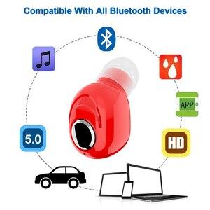 Image 4 - L16 Mini kulak Bluetooth 5.0 kulaklık HiFi spor kablosuz mikrofonlu kulaklık kulakiçi Handsfree Stereo kulaklık akıllı telefonlar için
