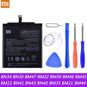 Image 1 - BN34 BN30 BM47 BM22 BM36 BM46 BM45 BM22 BN41 BN43 Battery For Xiaomi Redmi 5A 4A 3 3S 4X Mi 5 5S Mi5 Mi5S Redmi Note2 3 Battery