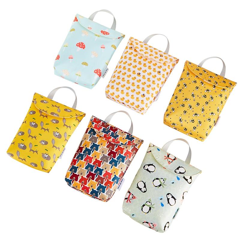 Multifunctional Baby Diaper Bags  Organizer Reusable Waterproof Fashion Prints Wet  Mummy Storage Bag Travel Nappy Bag